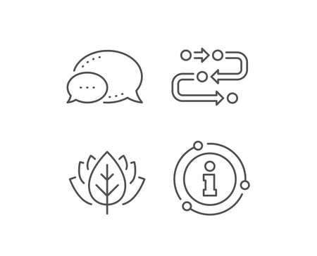 Methodology line icon. Chat bubble, info sign elements. Development process sign. Strategy symbol. Linear methodology outline icon. Information bubble. Vector 向量圖像