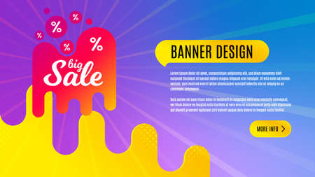 Big sale badge. Discount banner shape. Coupon design icon. Abstract background design. Banner with offer badge. Vector
