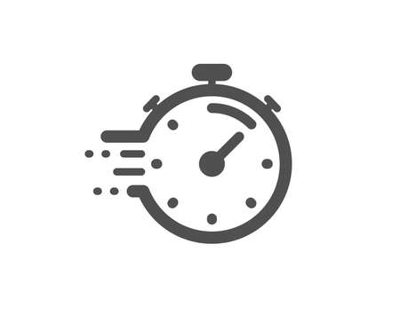 Time management sign. Timer icon. Stopwatch symbol. Classic flat style. Simple timer icon. Vector Ilustração