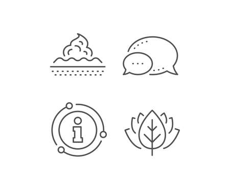 Skin care line icon. Chat bubble, info sign elements. Moisture cream sign. Cosmetic lotion symbol. Linear skin care outline icon. Information bubble. Vector