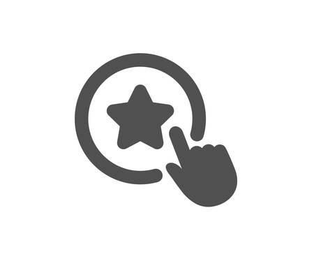 Bonus points. Loyalty star icon. Discount program symbol. Classic flat style. Simple loyalty star icon. Vector Çizim