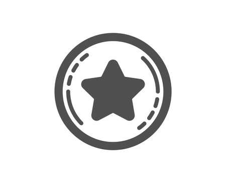 Bonus points. Loyalty star icon. Discount program symbol. Classic flat style. Simple loyalty star icon. Vector Illustration