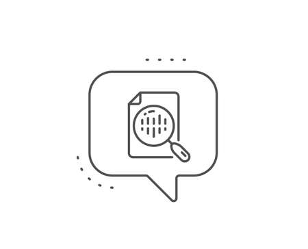 Diagram chart line icon. Chat bubble design. Analytics graph sign. Market analytics symbol. Outline concept. Thin line analytics chart icon. Vector Ilustrace