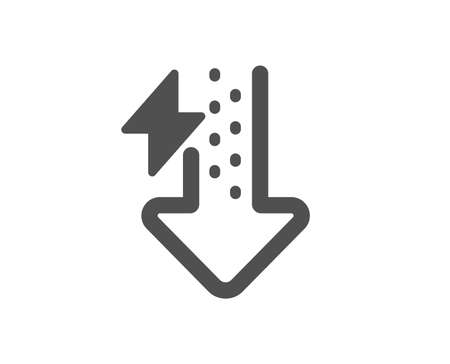 Thunderbolt sign. Energy icon. Power consumption symbol. Classic flat style. Simple energy drops icon. Vector
