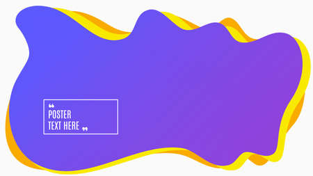 Blurred background. Geometric liquid shape. Abstract blue and purple gradient design. Dynamic shape background. Landing page blurred cover. Composition template banner. Vector 일러스트