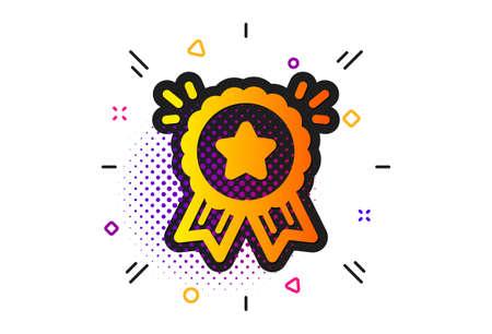 Bonus points. Halftone circles pattern. Loyalty award icon. Discount program symbol. Classic flat loyalty award icon. Vector
