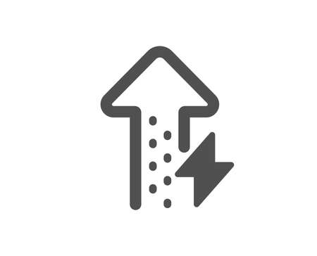 Thunderbolt sign. Energy icon. Power consumption symbol. Classic flat style. Simple energy growing icon. Vector Illustration