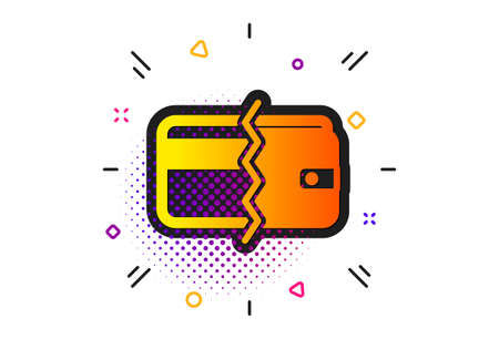 Payment methods sign. Halftone circles pattern. Credit card or cash icon. Classic flat payment methods icon. Vector Stock Illustratie