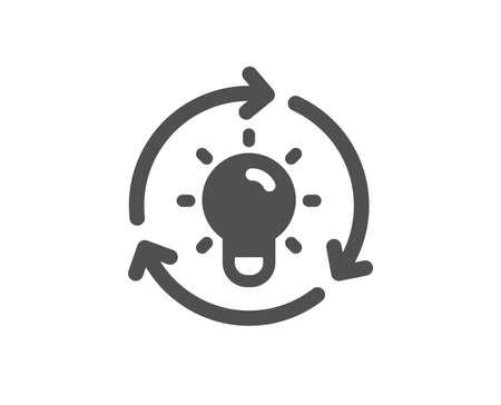 Lightbulb sign. Idea icon. Core value symbol. Classic flat style. Simple idea icon. Vector 向量圖像