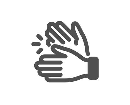 Clap sign. Clapping hands icon. Victory gesture symbol. Classic flat style. Simple clapping hands icon. Vector
