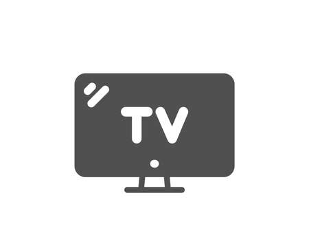 Television sign. TV icon. Hotel service symbol. Classic flat style. Simple tv icon. Vector