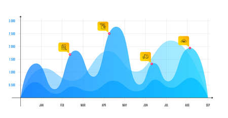 Analytics graph, Technical documentation and Question mark line icons set. Infographic chart, financial data graphic. Quick tips sign. Chart report, Manual, Quiz chat. Helpful tricks. Vector