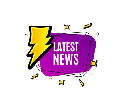 Latest news symbol. Banner badge, offer sticker. Media newspaper sign. Daily information. Latest news banner. Sticker badge. Vector