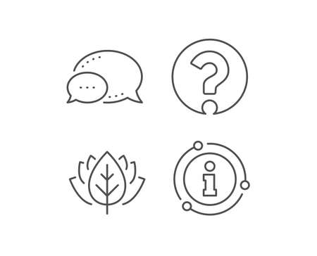 Question mark line icon. Chat bubble, info sign elements. Support help sign. FAQ symbol. Linear question mark outline icon. Information bubble. Vector