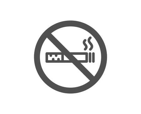 Stop smoke sign. No smoking icon. Hotel service symbol. Classic flat style. Simple no smoking icon. Vector Illustration