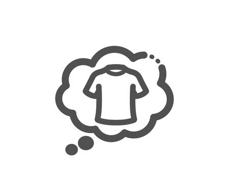 Laundry shirt sign. T-shirt icon. Clothing speech bubble symbol. Classic flat style. Simple t-shirt icon. Vector 向量圖像