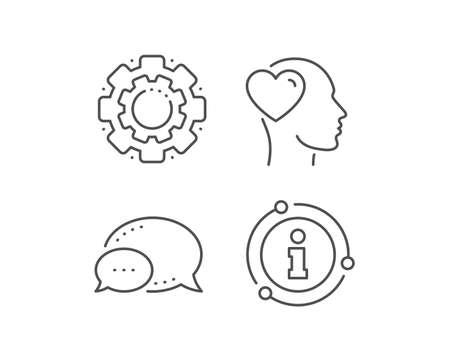 Friend line icon. Chat bubble, info sign elements. Friendship love sign. Assistance business symbol. Linear friend outline icon. Information bubble. Vector