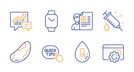 Accounting, Brazil nut and No alcohol line icons set. Job interview, Quick tips and Medical syringe signs. Smartwatch, Seo gear symbols. Supply and demand, Vegetarian. Line accounting icon. Vector Stock fotó - 133842284
