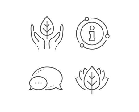 Fair trade line icon. Chat bubble, info sign elements. Bio cosmetics sign. Organic tested symbol. Linear fair trade outline icon. Information bubble. Vector Stock fotó - 133848955