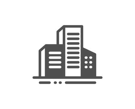 City architecture sign. Buildings icon. Skyscraper building symbol. Classic flat style. Simple buildings icon. Vector Standard-Bild - 133849026