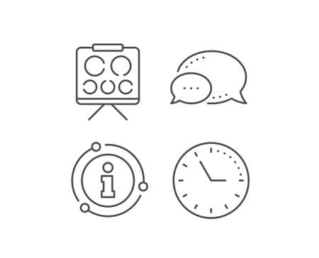 Vision board line icon. Chat bubble, info sign elements. Oculist eye clinic sign. Optometry symbol. Linear vision board outline icon. Information bubble. Vector