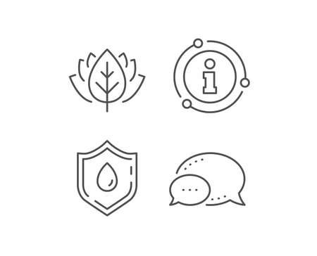 Blood donation line icon. Chat bubble, info sign elements. Medical analyzes sign. Pharmacy medication symbol. Linear blood donation outline icon. Information bubble. Vector Ilustrace
