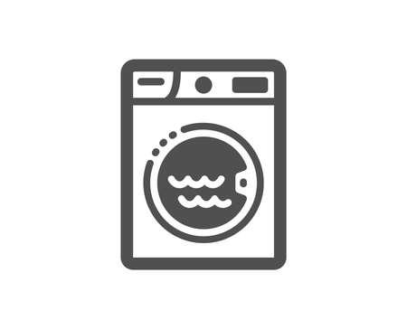 Washing machine sign. Laundry icon. Hotel service symbol. Classic flat style. Simple laundry icon. Vector