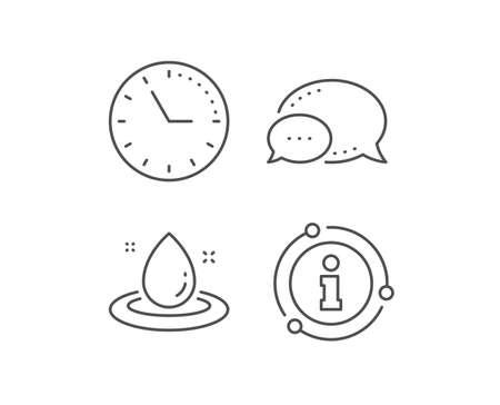Fuel energy line icon. Chat bubble, info sign elements. Petroleum sign. Diesel drop symbol. Linear fuel energy outline icon. Information bubble. Vector 일러스트