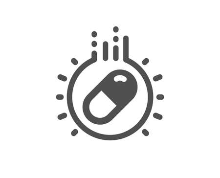 Medical drugs sign. Capsule pill icon. Pharmacy medication symbol. Classic flat style. Simple capsule pill icon. Vector Ilustrace