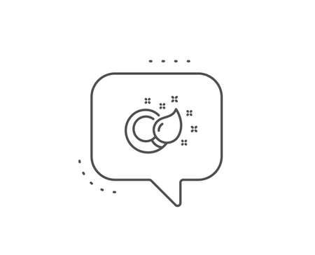 Paint brush line icon. Chat bubble design. Creativity sign. Graphic art symbol. Outline concept. Thin line paint brush icon. Vector
