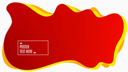 Blurred background. Geometric liquid shape. Abstract red gradient design. Dynamic shape background. Landing page blurred cover. Composition template banner. Vector Ilustração