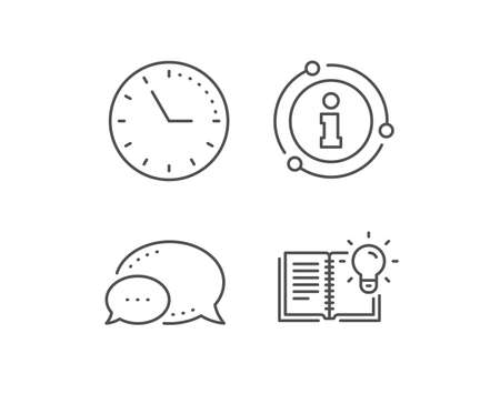 Product knowledge line icon. Chat bubble, info sign elements. Education process sign. Linear product knowledge outline icon. Information bubble. Vector