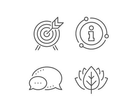Archery line icon. Chat bubble, info sign elements. Amusement park attraction sign. Linear archery outline icon. Information bubble. Vector Illustration