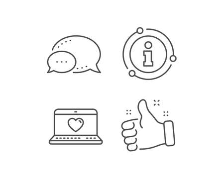Love dating line icon. Chat bubble, info sign elements. Heart in Notebook sign. Valentines day symbol. Linear web love outline icon. Information bubble. Vector