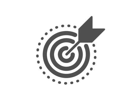 Stratery goal sign. Target purpose icon. Core value symbol. Classic flat style. Simple target purpose icon. Vector