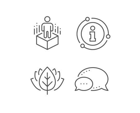 Augmented reality line icon. Chat bubble, info sign elements. VR simulation sign. 3d person symbol. Linear augmented reality outline icon. Information bubble. Vector