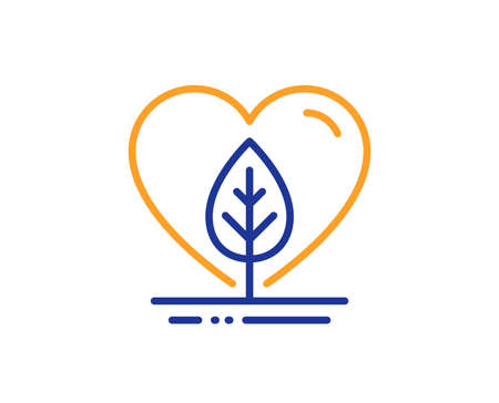 Organic tested sign. Local grown line icon. Fair trade symbol. Colorful outline concept. Blue and orange thin line local grown icon. Vector 向量圖像