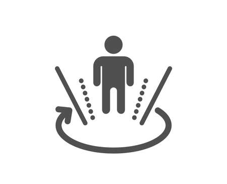 VR simulation sign. Augmented reality icon. 3d person symbol. Classic flat style. Simple augmented reality icon. Vector
