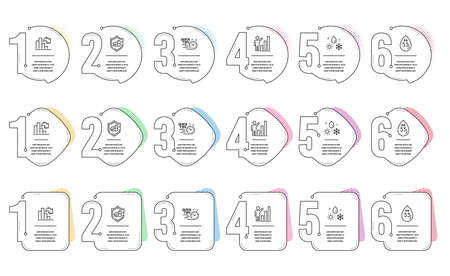 Ph neutral, Weather and Quick tips line icons set. Infographic timeline. Medical tablet, Decreasing graph and Graph chart signs. Water, Climate, Helpful tricks. Medicine pill. Science set. Vector