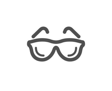 Oculist clinic sign. Eyeglasses icon. Optometry vision symbol. Classic flat style. Simple eyeglasses icon. Vector