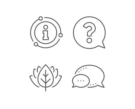 Question mark line icon. Chat bubble, info sign elements. Help speech bubble sign. FAQ symbol. Linear question mark outline icon. Information bubble. Vector