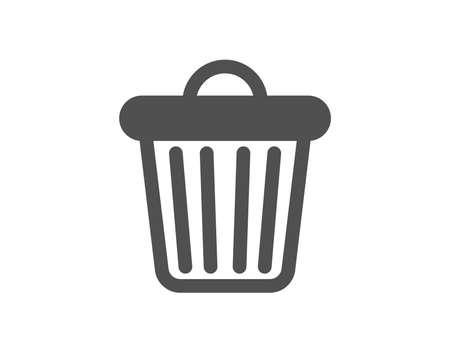 Garbage, waste sign. Trash bin icon. Delete, remove symbol. Classic flat style. Simple trash bin icon. Vector Vector Illustration