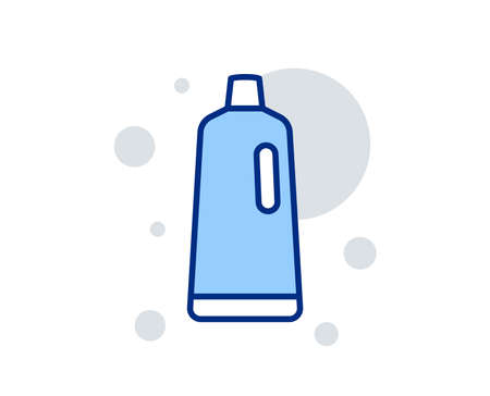 Cleaning shampoo line icon. Washing liquid or Cleanser symbol. Housekeeping equipment sign. Linear design sign. Colorful shampoo icon. Vector 免版税图像 - 136205972