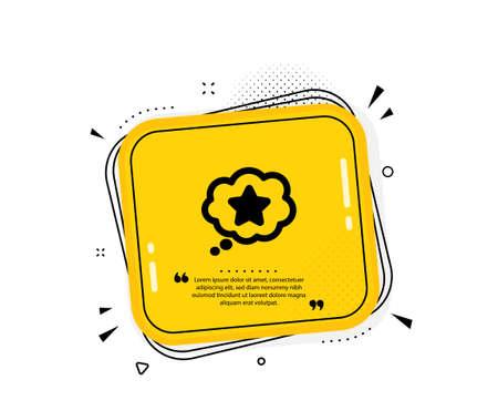 Loyalty star icon. Quote speech bubble. Bonus points. Discount program symbol. Quotation marks. Classic loyalty star icon. Vector