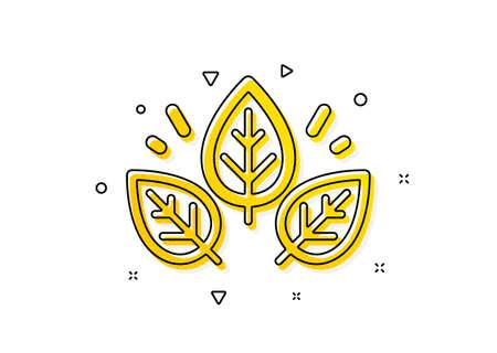 Bio cosmetics sign. Organic tested icon. Fair trade symbol. Yellow circles pattern. Classic organic tested icon. Geometric elements. Vector Ilustrace