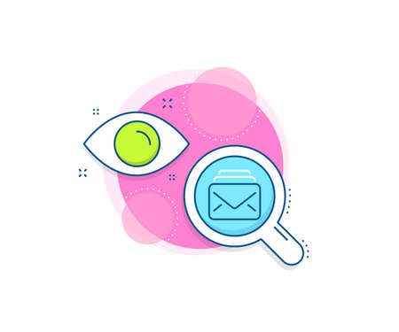 New Messages correspondence sign. Research complex icon. Mail line icon. E-mail symbol. Analytics or analysis banner. Mail sign. Vector