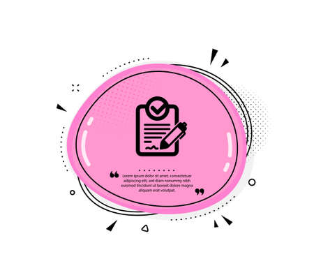 Rfp icon. Quote speech bubble. Request for proposal sign. Report document symbol. Quotation marks. Classic rfp icon. Vector