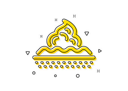 Moisture cream sign. Skin care icon. Cosmetic lotion symbol. Yellow circles pattern. Classic skin care icon. Geometric elements. Vector