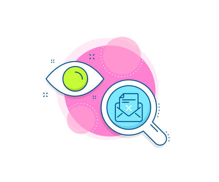Delete mail sign. Research complex icon. Reject letter line icon. Decline message. Analytics or analysis banner. Reject letter sign. Vector