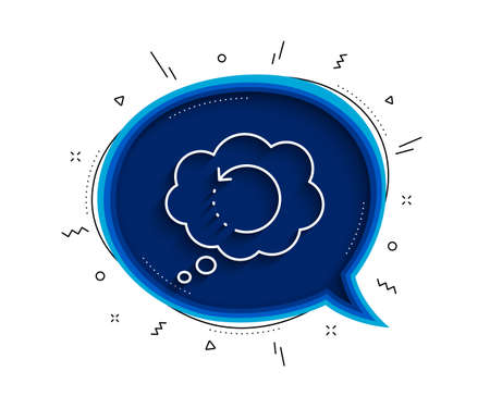 Recovery info line icon. Chat bubble with shadow. Backup data sign. Restore information symbol. Thin line recovery data icon. Vector Stock Illustratie